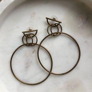 Handmade brass hoop earrings